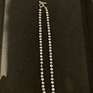 Ann Taylor Gray Freshwater Pearl Toggle Necklace